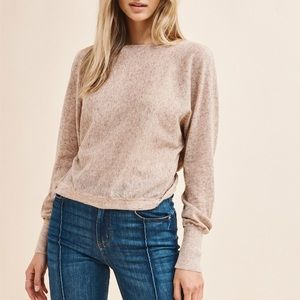 NWT Dynamite Twist Back Sweater
